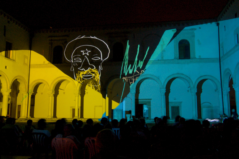Oscure Luci Colorate — Chiostro di San Michele Arcangelo/Montescaglioso, Matera, 2012